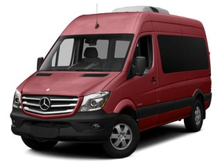 Velvet Red 2015 Mercedes-Benz Sprinter Passenger Vans Pictures Sprinter Passenger Vans Passenger Van High Roof 4WD photos front view