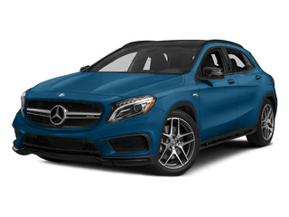 South Seas Blue Metallic 2015 Mercedes-Benz GLA-Class Pictures GLA-Class Utility 4D GLA45 AMG AWD I4 Turbo photos front view