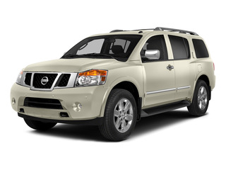 Pearl White 2015 Nissan Armada Pictures Armada Utility 4D Platinum Reserve 4WD V8 photos front view