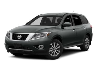 Gun Metallic 2015 Nissan Pathfinder Pictures Pathfinder Utility 4D S 4WD V6 photos front view