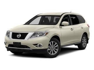 Pearl White 2015 Nissan Pathfinder Pictures Pathfinder Utility 4D S 4WD V6 photos front view