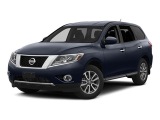 Arctic Blue Metallic 2015 Nissan Pathfinder Pictures Pathfinder Utility 4D S 4WD V6 photos front view