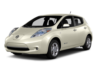 Pearl White 2015 Nissan LEAF Pictures LEAF Hatchback 5D SV Electric photos front view