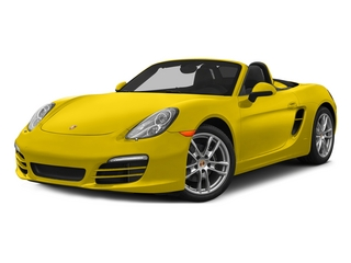 Racing Yellow 2015 Porsche Boxster Pictures Boxster Roadster 2D H6 photos front view