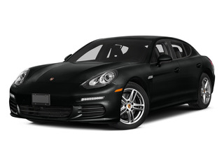 Jet Black Metallic 2015 Porsche Panamera Pictures Panamera Hatchback 4D Executive AWD V8 Turbo photos front view