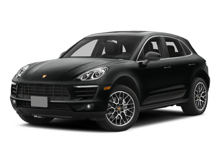 Jet Black Metallic 2015 Porsche Macan Pictures Macan Utility 4D AWD V6 Turbo photos front view