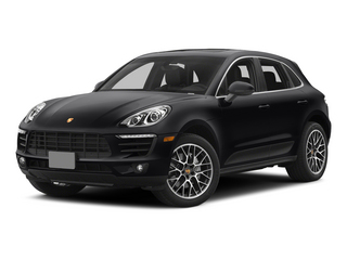 Black 2015 Porsche Macan Pictures Macan Utility 4D AWD V6 Turbo photos front view