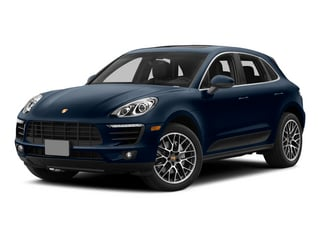 Dark Blue Metallic 2015 Porsche Macan Pictures Macan Utility 4D AWD V6 Turbo photos front view