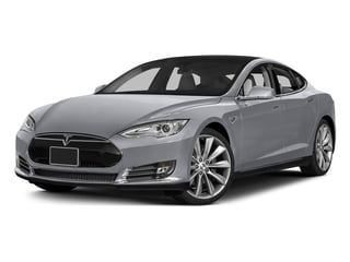 Silver Metallic 2015 Tesla Motors Model S Pictures Model S Sedan 4D D AWD Electric photos front view