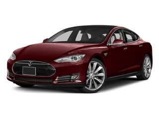 Red Multi-Coat 2015 Tesla Motors Model S Pictures Model S Sedan 4D D AWD Electric photos front view