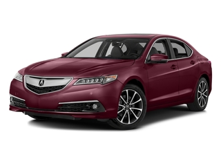 Basque Red Pearl II 2016 Acura TLX Pictures TLX Sedan 4D Advance AWD V6 photos front view