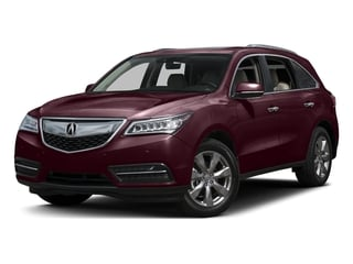 Dark Cherry Pearl 2016 Acura MDX Pictures MDX Utility 4D Advance AWD V6 photos front view