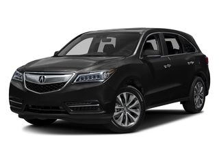 Crystal Black Pearl 2016 Acura MDX Pictures MDX Utility 4D Technology DVD 2WD V6 photos front view