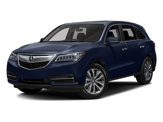 Fathom Blue Pearl 2016 Acura MDX Pictures MDX Utility 4D Technology DVD 2WD V6 photos front view