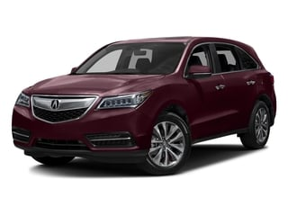 Dark Cherry Pearl 2016 Acura MDX Pictures MDX Utility 4D Technology DVD 2WD V6 photos front view
