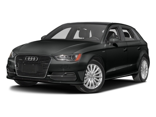 Mythos Black Metallic 2016 Audi A3 e-tron Pictures A3 e-tron Hatchback 5D E-tron Premium photos front view