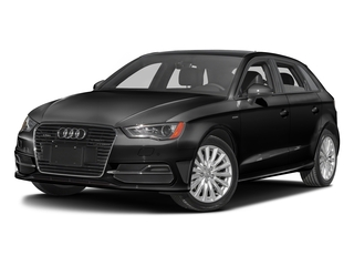 Brilliant Black 2016 Audi A3 e-tron Pictures A3 e-tron Hatchback 5D E-tron Prestige photos front view