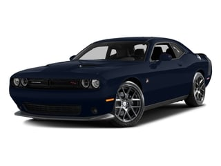 Jazz Blue Pearlcoat 2016 Dodge Challenger Pictures Challenger Coupe 2D R/T Scat Pack V8 photos front view