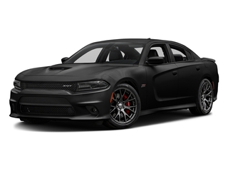 Pitch Black Clearcoat 2016 Dodge Charger Pictures Charger Sedan 4D SRT 392 V8 photos front view