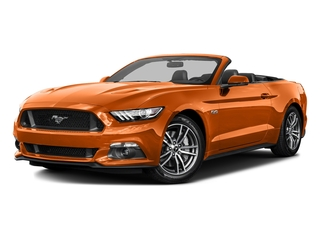 Competition Orange 2016 Ford Mustang Pictures Mustang Convertible 2D GT Premium V8 photos front view