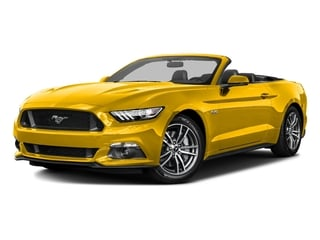 Triple Yellow Tri-Coat 2016 Ford Mustang Pictures Mustang Convertible 2D GT Premium V8 photos front view