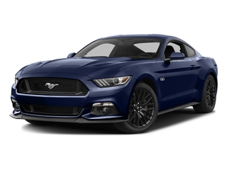 Deep Impact Blue Metallic 2016 Ford Mustang Pictures Mustang Coupe 2D GT V8 photos front view