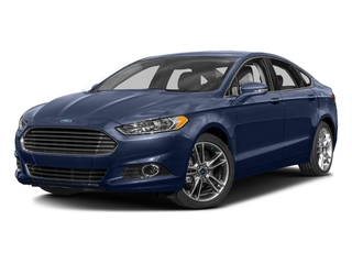 Deep Impact Blue 2016 Ford Fusion Pictures Fusion Sedan 4D Titanium AWD I4 Turbo photos front view