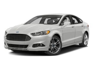 Oxford White 2016 Ford Fusion Pictures Fusion Sedan 4D Titanium AWD I4 Turbo photos front view