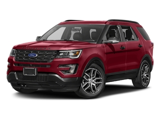 Ruby Red Metallic Tinted Clearcoat 2016 Ford Explorer Pictures Explorer Utility 4D Sport 4WD V6 photos front view