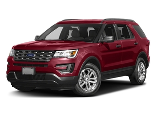 Ruby Red Metallic Tinted Clearcoat 2016 Ford Explorer Pictures Explorer Utility 4D EcoBoost 2WD I4 photos front view