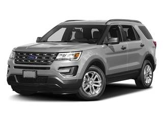 Ingot Silver Metallic 2016 Ford Explorer Pictures Explorer Utility 4D EcoBoost 2WD I4 photos front view