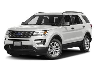 Oxford White 2016 Ford Explorer Pictures Explorer Utility 4D EcoBoost 2WD I4 photos front view