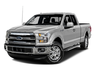 Ingot Silver Metallic 2016 Ford F-150 Pictures F-150 Supercab Lariat 2WD photos front view