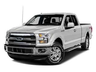 Oxford White 2016 Ford F-150 Pictures F-150 Supercab Lariat 2WD photos front view