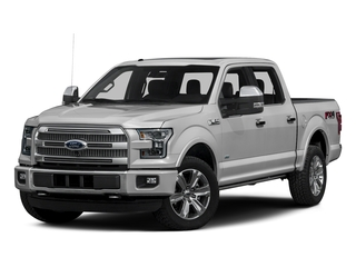 Ingot Silver Metallic 2016 Ford F-150 Pictures F-150 Crew Cab Platinum 2WD photos front view