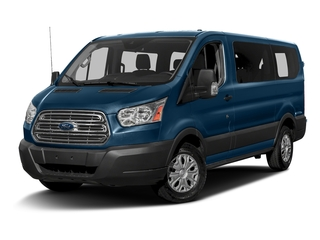 Blue Jeans Metallic 2016 Ford Transit Wagon Pictures Transit Wagon Passenger Van XLT Low Roof photos front view