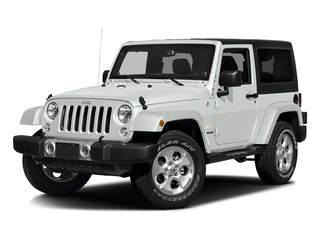 Bright White Clearcoat 2016 Jeep Wrangler Pictures Wrangler Utility 2D Sahara 4WD V6 photos front view