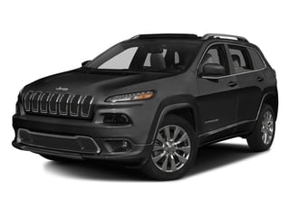 Brilliant Black Crystal Pearlcoat 2016 Jeep Cherokee Pictures Cherokee Utility 4D Overland 2WD photos front view