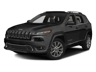 Brilliant Black Crystal Pearlcoat 2016 Jeep Cherokee Pictures Cherokee Utility 4D Overland 4WD photos front view