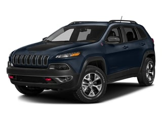 True Blue Pearlcoat 2016 Jeep Cherokee Pictures Cherokee Utility 4D Trailhawk 4WD photos front view