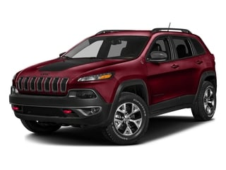 Deep Cherry Red Crystal Pearlcoat 2016 Jeep Cherokee Pictures Cherokee Utility 4D Trailhawk 4WD photos front view