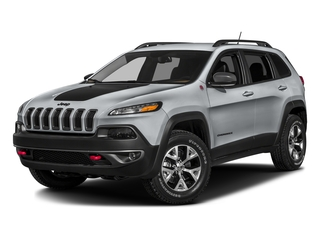 Billet Silver Metallic Clearcoat 2016 Jeep Cherokee Pictures Cherokee Utility 4D Trailhawk 4WD photos front view
