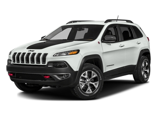 Bright White Clearcoat 2016 Jeep Cherokee Pictures Cherokee Utility 4D Trailhawk 4WD photos front view