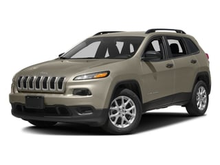 Light Brownstone Pearlcoat 2016 Jeep Cherokee Pictures Cherokee Utility 4D Sport 2WD V6 photos front view