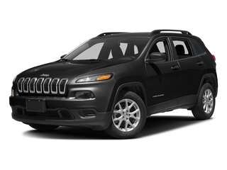 Brilliant Black Crystal Pearlcoat 2016 Jeep Cherokee Pictures Cherokee Utility 4D Sport 2WD photos front view