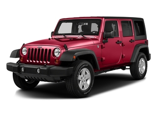 Firecracker Red Clearcoat 2016 Jeep Wrangler Unlimited Pictures Wrangler Unlimited Utility 4D Unlimited Sport 4WD V6 photos front view