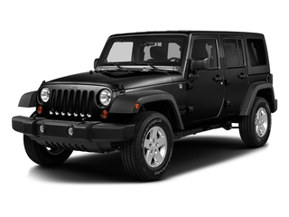 Black Clearcoat 2016 Jeep Wrangler Unlimited Pictures Wrangler Unlimited Utility 4D Unlimited Sport 4WD V6 photos front view