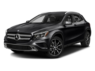 Night Black 2016 Mercedes-Benz GLA Pictures GLA Utility 4D GLA250 AWD I4 Turbo photos front view