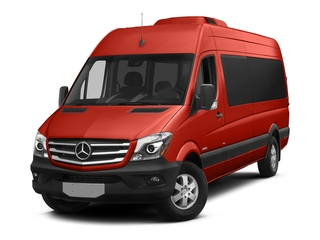 Flame Red 2016 Mercedes-Benz Sprinter Passenger Vans Pictures Sprinter Passenger Vans Extended Passenger Van High Roof photos front view
