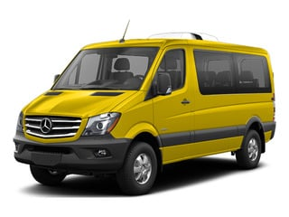 Broom Yellow 2016 Mercedes-Benz Sprinter Passenger Vans Pictures Sprinter Passenger Vans Passenger Van photos front view